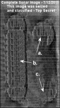 Baltic Sea UFO  Sonar identification *See composite component image citation
