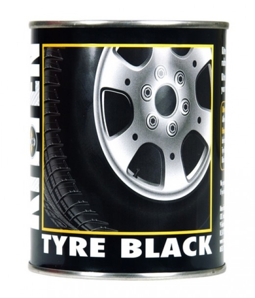 Tyre black, makes Tyres Mud flaps and rubber feet mats look brand new.
