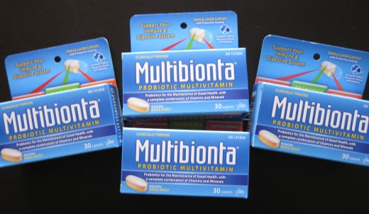 Packs of deeply discounted Multibionta Vitamins