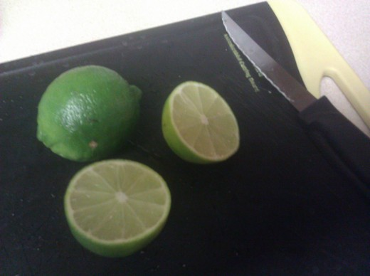 Fresh lime juice cuts the bitterness of the green peppers and adds an nice dimension to the dish.