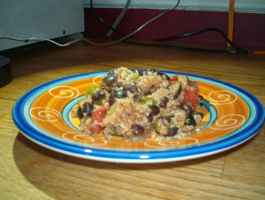 Spanish black beans and rice packs a protein punch.