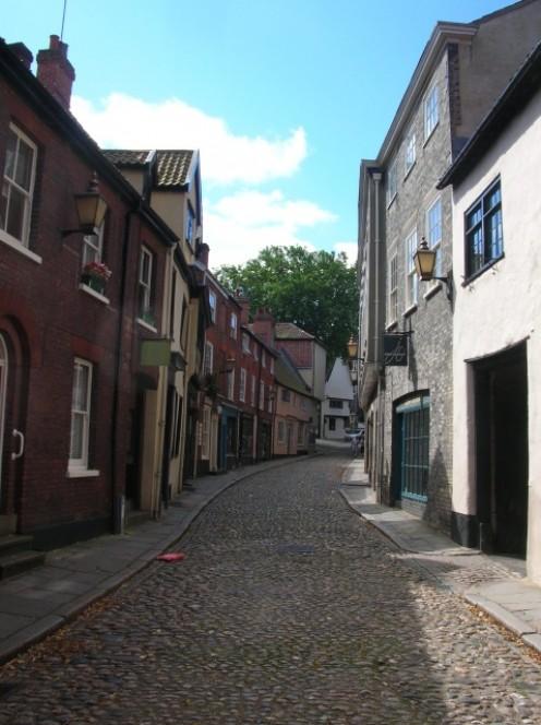 Cobbled street in Norwich: Elm Hill