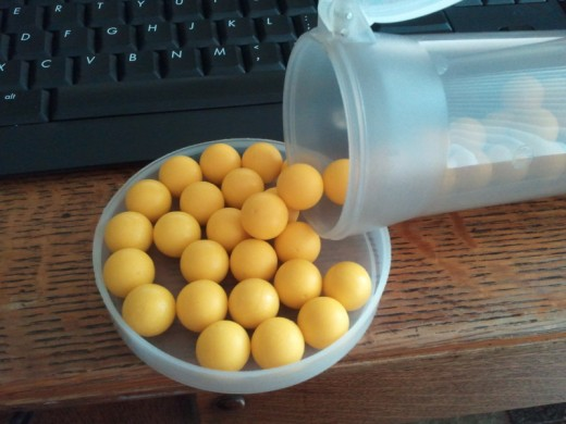Some Z-Balls, reusable paintballs sold by GxG.