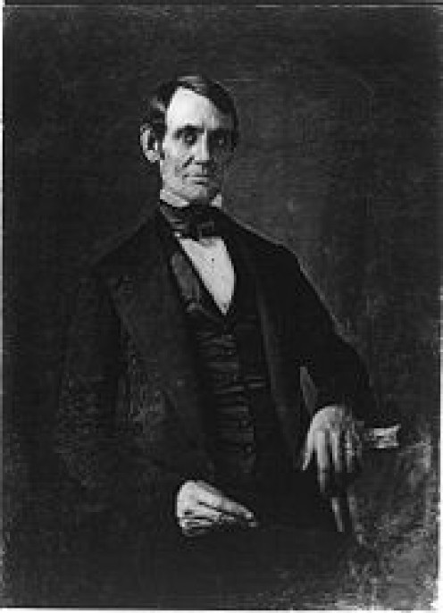 A daguerreotype of President Lincoln, a man of character,  taken by Nicholas H. Shepherd in 1846 when Lincoln was a congressman.