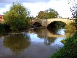 The present stone-built crossing at Stamford Bridge close to the original wooden planked bridge