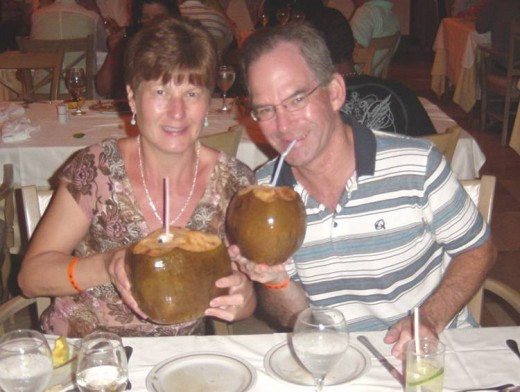 A Lovely Pair of Coconuts at an All-Inclusive resort in the Dominican Republic