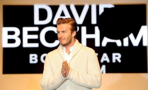 Beckham at the Launch in London - Feb  2012.