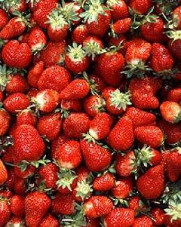 Strawberries make a great low-calorie frozen dessert