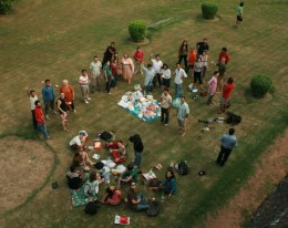 A picnic in Lodhi Garden with family and friends - the kids are not in pics as they have gone to play in the nearby area.