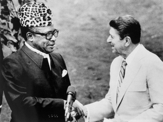 Mobutu with US President Reagan