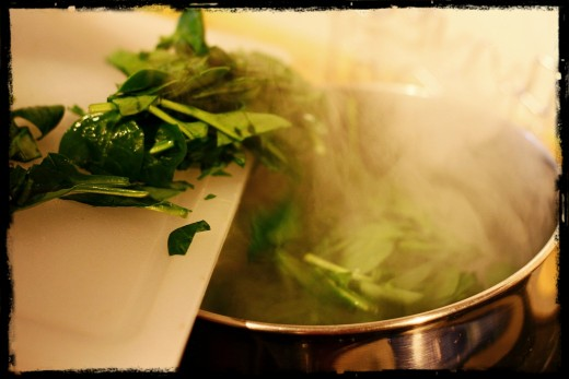 Blanch the Spinach for a couple of minutes