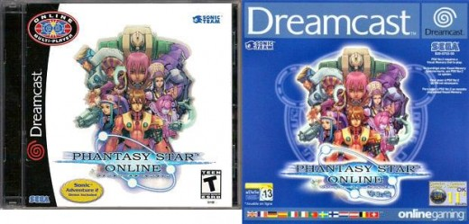 Left NTSC ver 1 box and right Pal ver 2 box