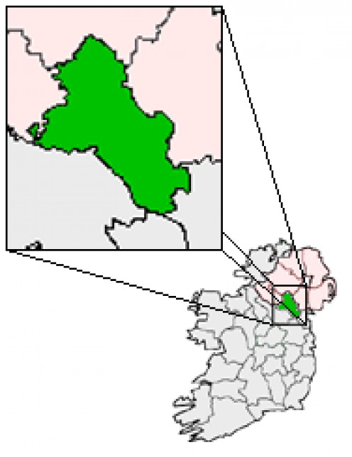 Map location of County Monaghan, Republic of Ireland