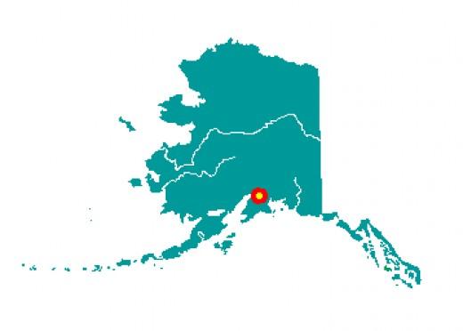 Near the southern boarder of Alaska.