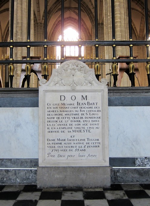 Tomb of Jean Bart in the church of St. Eloi, Dunkirk