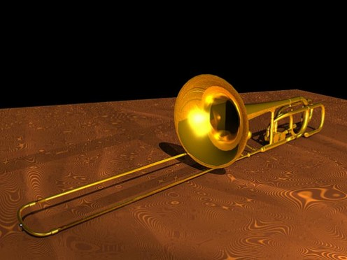 The trombone with its telescopic slide is the most distinctive member of the orchestral brass section.