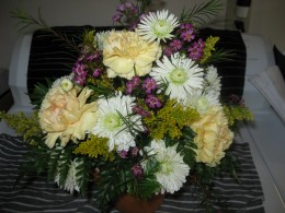 Offer a bouquet of flowers as an apology.
