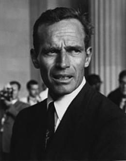 The late Academy Award-winning actor, Charlton Heston. He was the president of the National Rifle Association from 1998 to 2003.