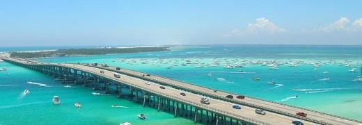 Crab Island and the Destin Bridge
