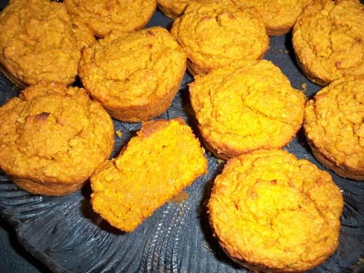 ❀ Egg and Cow's Milk Free, Gluten Free Pumpkin Muffins = Golden Yum