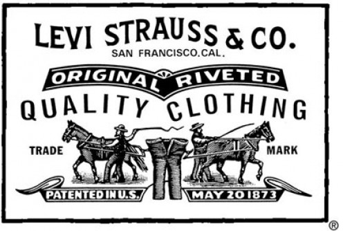 The often faded logo of Levi Strauss & Co