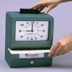 Vintage punch clock