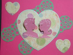 Easy to Make Valentine's Card with Cricut and Stamps