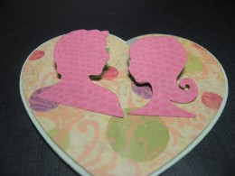 Heart Couple Adhered and lifted from card