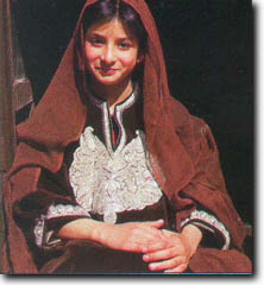 A traditional kashmiri female