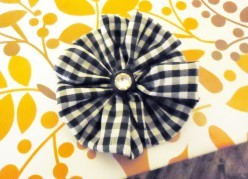 How to Make a Fabric Yo-Yo Flower