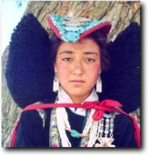 A traditional Ladakhi female