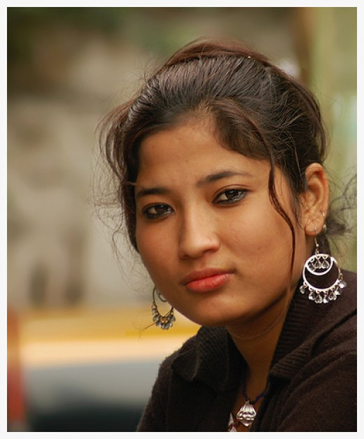 A beautiful girl form villages of Sikkim