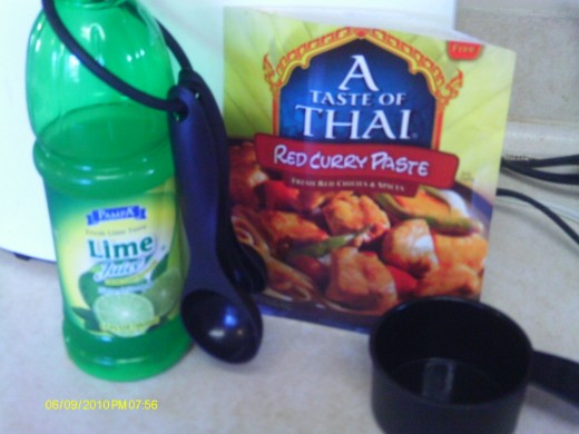 Simple Ingredients: Lime juice and red curry paste