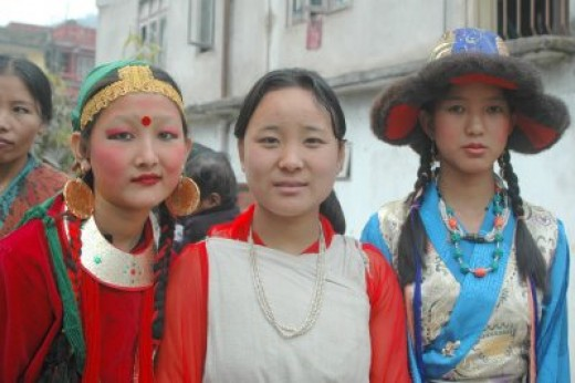 Sikkim females from villages