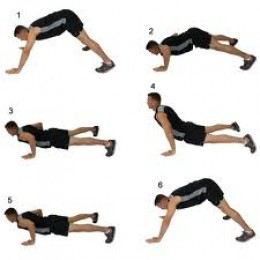 Every pushup exercise you can think of and the celebrities who do them - Dive bomber push up ...