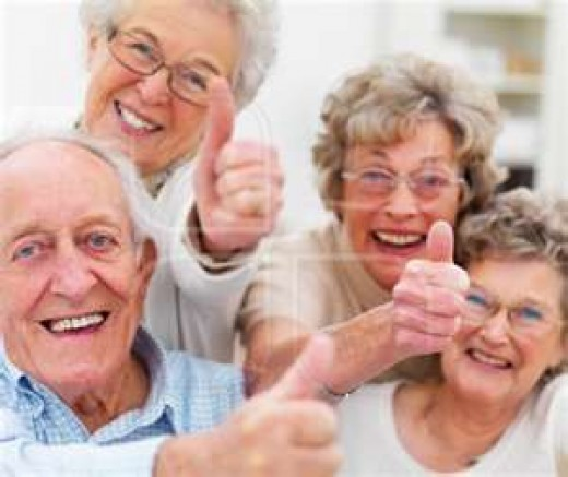 Joining support groups for old women
