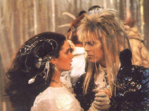 Nice hair, Sarah.  Now, all you have to do is return the love of the Goblin kind, forget about your half-brother, and realize that THE GOBLIN KING IS DAVID BOWIE!  What's the matter with you!?