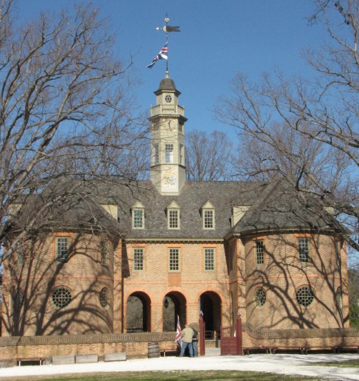 The Capitol Building sits at the East end of Duke of Gloucester Street