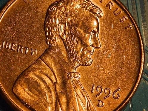 1996 U.S. Penny