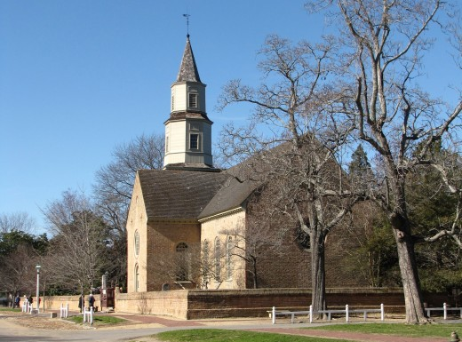 Bruton Parish Episcopal Church in winter