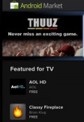 Google's Android Market now has TV apps