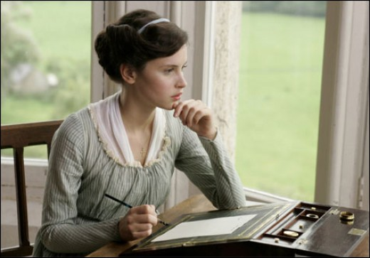 "Felicity Jones as Catherine Morland in ""Northanger Abbey"" (2007)"