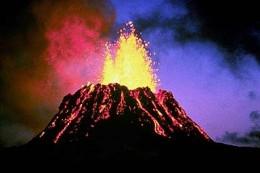 Volcano in land