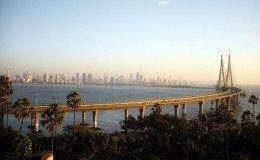 view from Worli Sea Link
