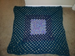 Granny square crochet wall decor/ afgan