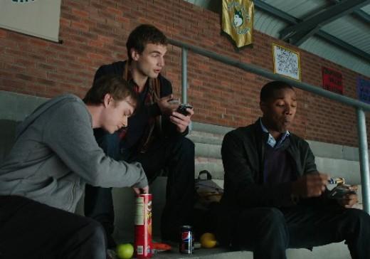 Dane DeHaan as Andrew, Alex Russell as Matt and Michael B. Jordan as Steve