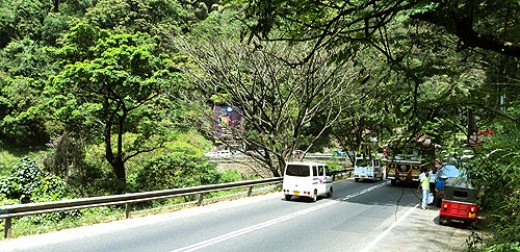 Kandy-Colombo Highway at Kadugannawa.