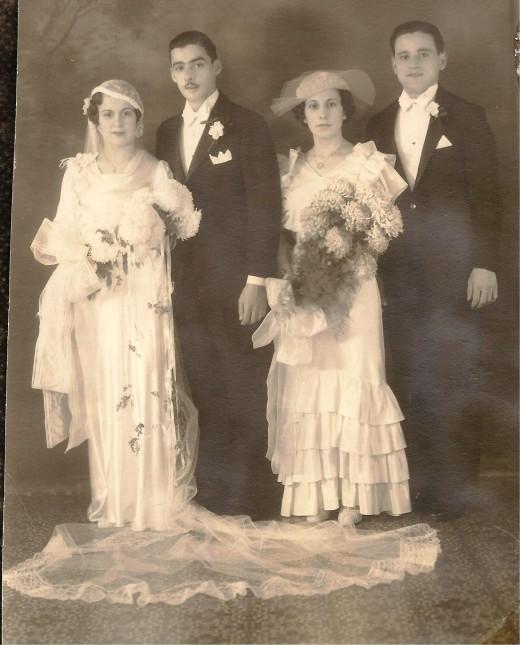 Ethel (Tillie), (Bride), Joseph (Groom),  Beatrice, Arthur
