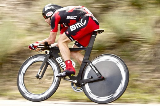 The Swiss BMC bicycle company sponsors a professional cycling team which rides with their company name as title sponsor.