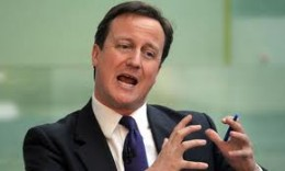 British Prime Minister David Cameron has to tackle UK slipping into recession